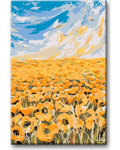 Malowanie po numerach – Pole żółtych kwiatów
