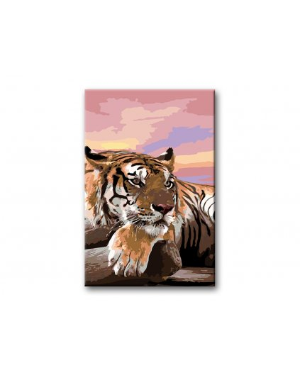 Malowanie po numerach – Tygrys po polowaniu