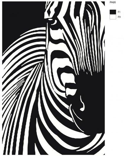 Malowanie po numerach – Zebra