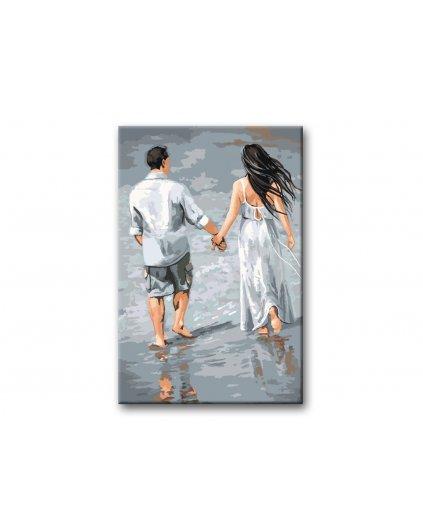 Malowanie po numerach – Zakochana para na plaży