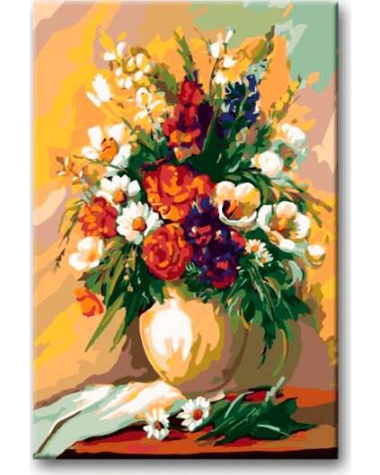 Malowanie po numerach – Polne kwiaty w wazonie
