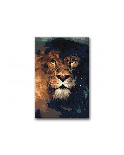 Malowanie po numerach – Lew król zwierząt