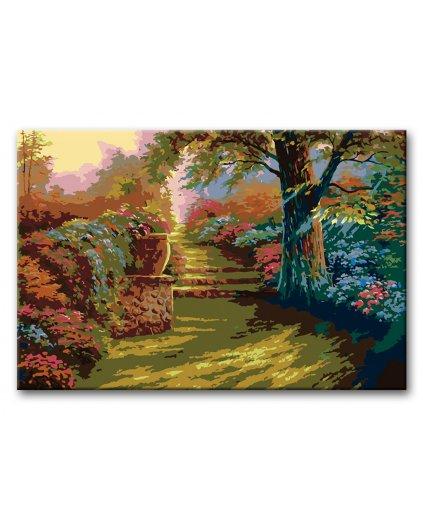 Malowanie po numerach – W romantycznym ogrodzie