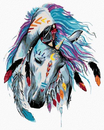 Malowanie po numerach – Indiański koń