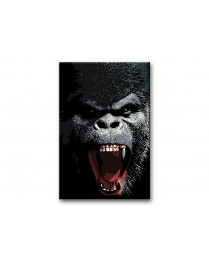 Malowanie po numerach – Rozwścieczony goryl