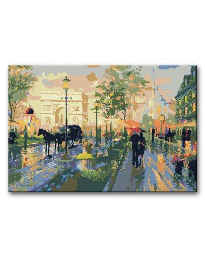 Malowanie po numerach – Romantyczny spacer po Paryżu