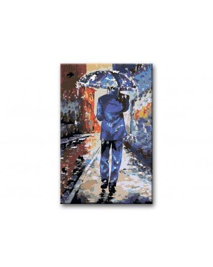 Malowanie po numerach – Mężczyzna z parasolem