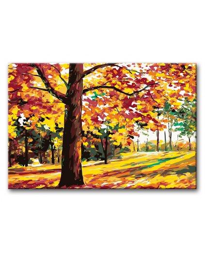 Malowanie po numerach – Jesienne drzewa