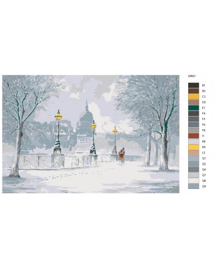 Malowanie po numerach – Spacer po zimowym mieście