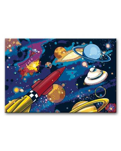 Malowanie po numerach – Kolorowa galaktyka