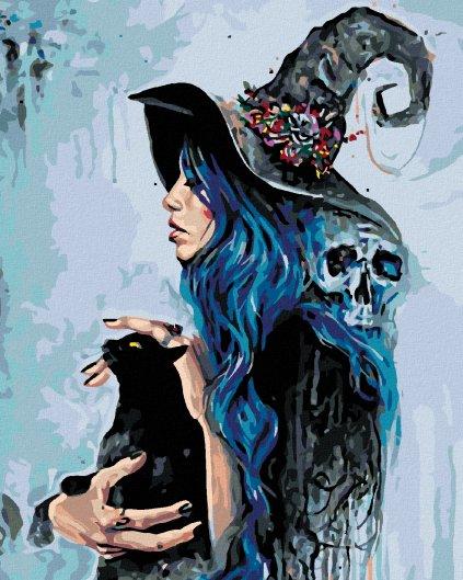 Malowanie po numerach – Czarownica z czarnym kotem