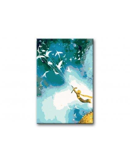 Malowanie po numerach - Mały Książę i gołębie