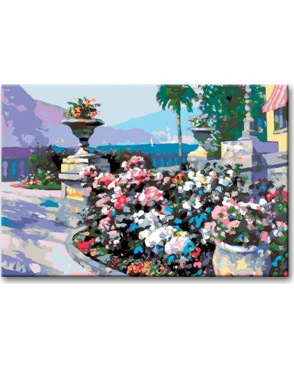 Malowanie po numerach - Ogród kwiatowy
