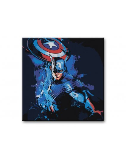 Malowanie po numerach – AVENGERS Kapitan Ameryka / Captain America