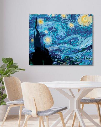 Malowanie po numerach - Gwiaździsta noc (Van Gogh) 40x60