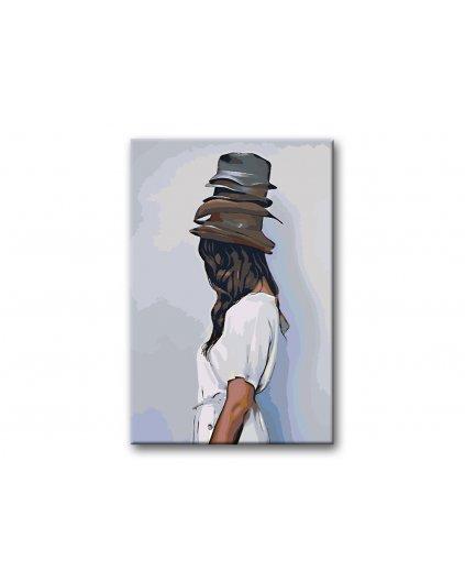 Malowanie po numerach – Kobieta w kapeluszach