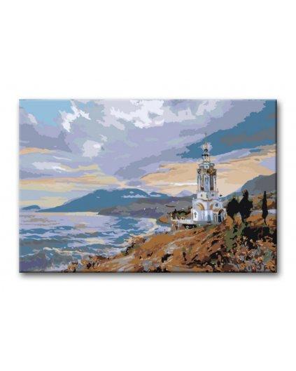 Malowanie po numerach – Kościółek nad morzem