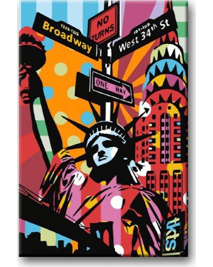 Malowanie po numerach – New York, statua wolności