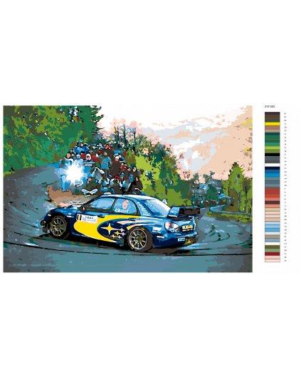 Malowanie po numerach – Wyścigowe Subaru