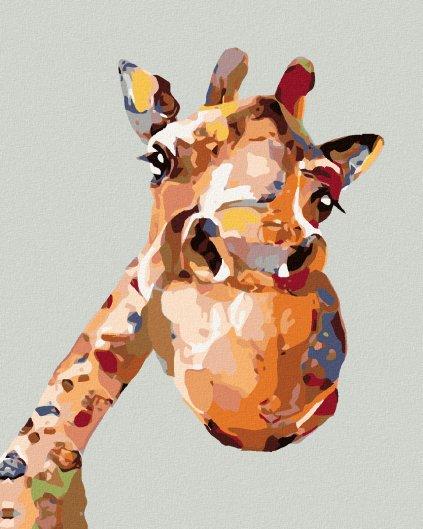 Malowanie po numerach – Malowana żyrafa
