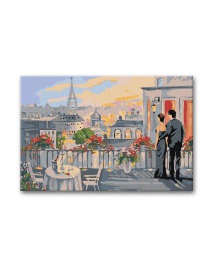 Malowanie po numerach – Na tarasie w Paryżu