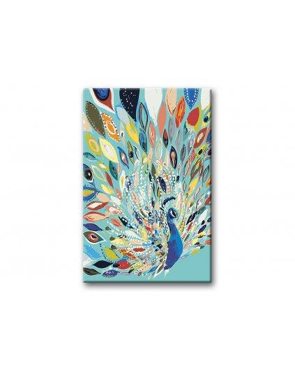 Malowanie po numerach – Malowany paw