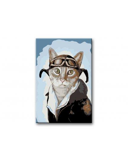 Malowanie po numerach – Koci pilot