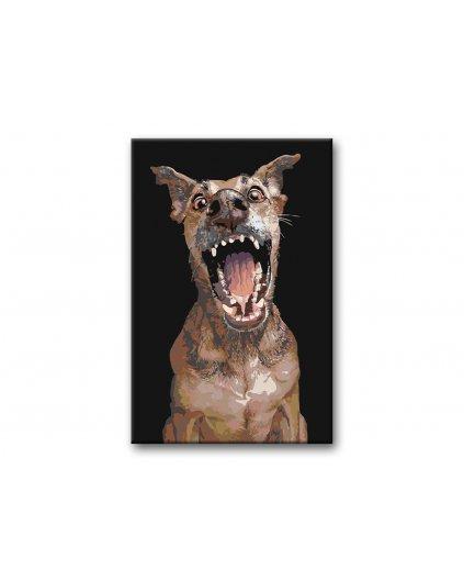 Malowanie po numerach – Pies z otwarym pyskiem