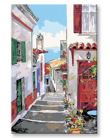 Malowanie po numerach – Greckie miasteczko