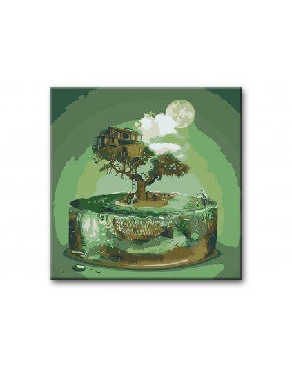 Malowanie po numerach – Domek na drzewie