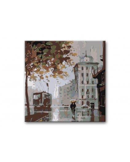Malowanie po numerach - Miasto we mgle