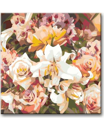 Malowanie po numerach – Róże i lilia
