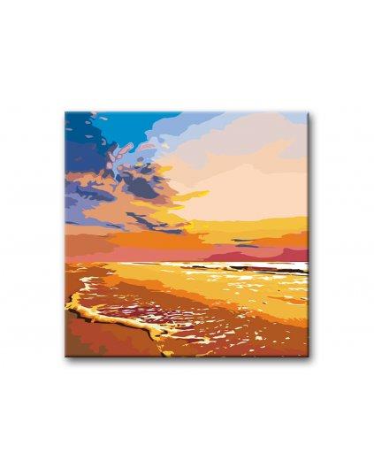 Malowanie po numerach - Zachód słońca na plaży