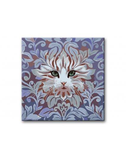 Malowanie po numerach - Kot z ornamentem II