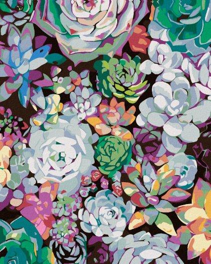 Malowanie po numerach – Kwiecisty obraz