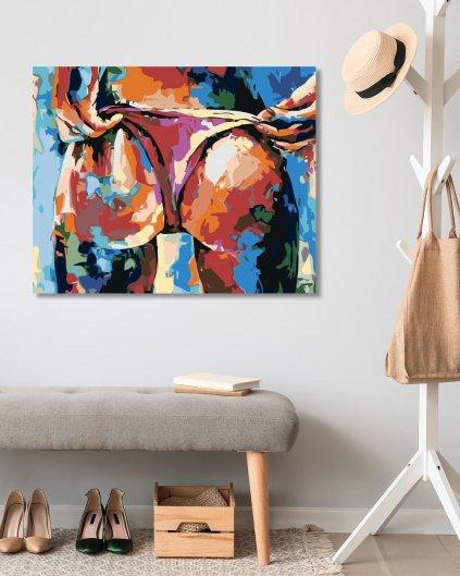 Malowanie po numerach – Seksy pośladki w kolorze