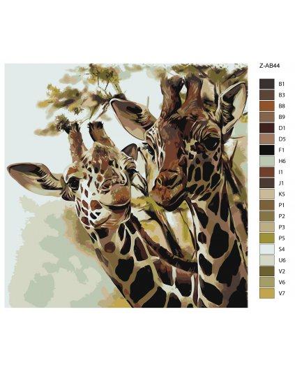 Malowanie po numerach – Żyrafy