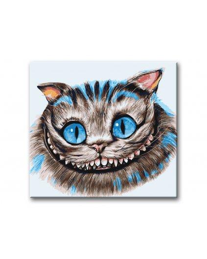 Malowanie po numerach - Kot z Cheshire