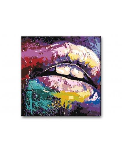 Malowanie po numerach - Kolorowe usta
