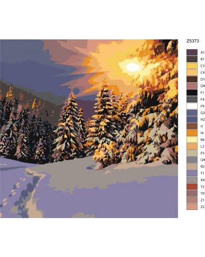 Malowanie po numerach – Zimowy las
