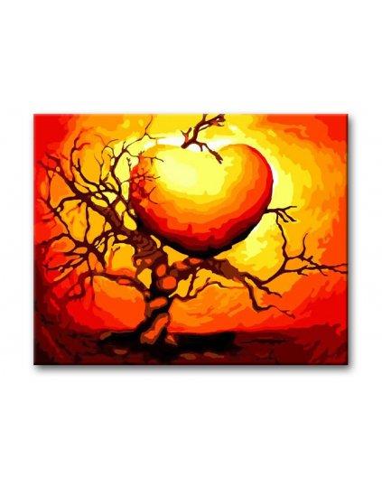 Malowanie po numerach - Serce w drzewie