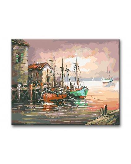 Malowanie po numerach - Stary port