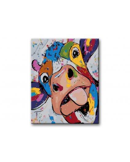 Malowanie po numerach – Kolorowa krowa