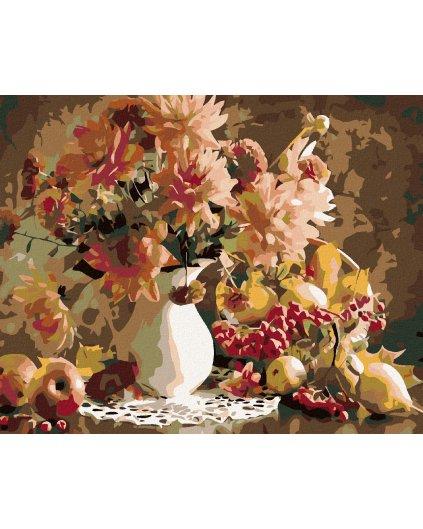 Malowanie po numerach – Kwiaty w wazonie