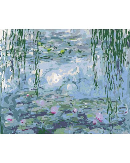 Malowanie po numerach - Lilie wodne (Claude Monet)