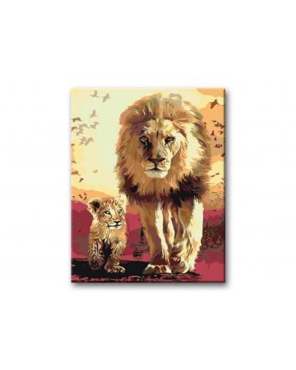Malowanie po numerach – Król lew ze synem