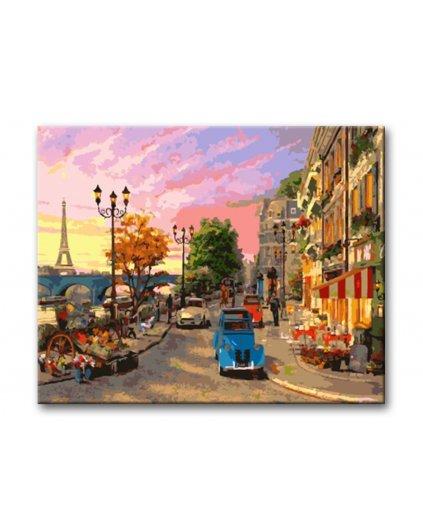 Malowanie po numerach – Uliczka w dawnym Paryżu