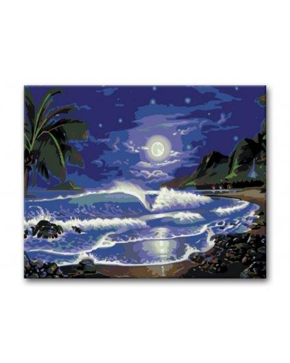 Malowanie po numerach - Księżyc nad morzem
