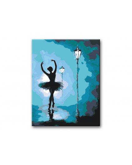 Malowanie po numerach – Baletnica pod latarnią