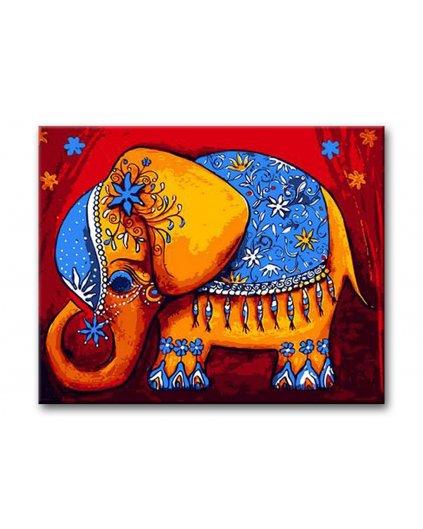 Malowanie po numerach – Niebieski słoń